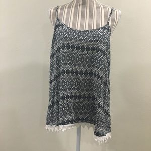 Mossimo Black & White Hipster Tank